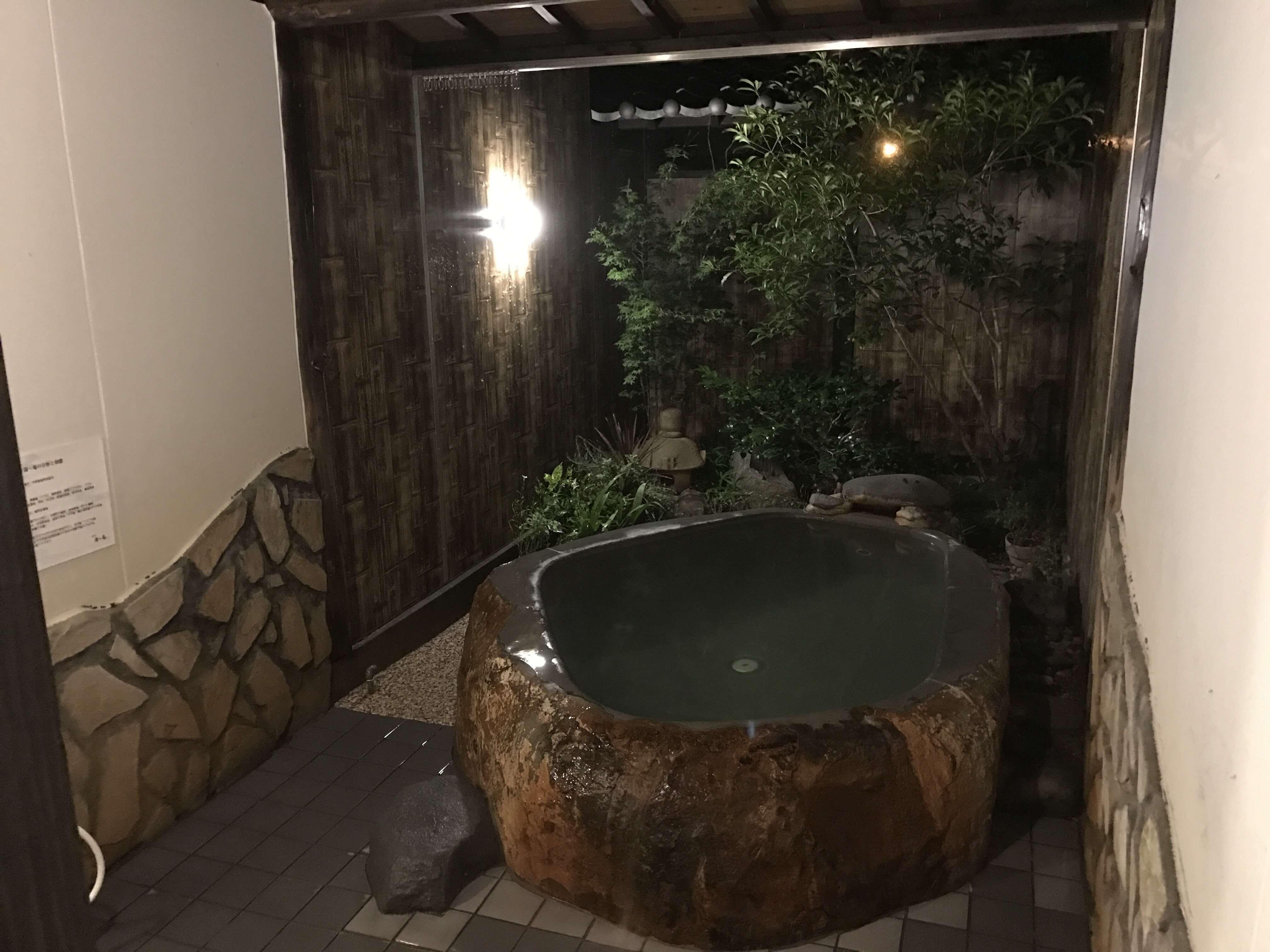 【湯〜庵(ゆーあん)】田んぼの植木の家族湯。お手頃価格でお風呂の種類も豊富。