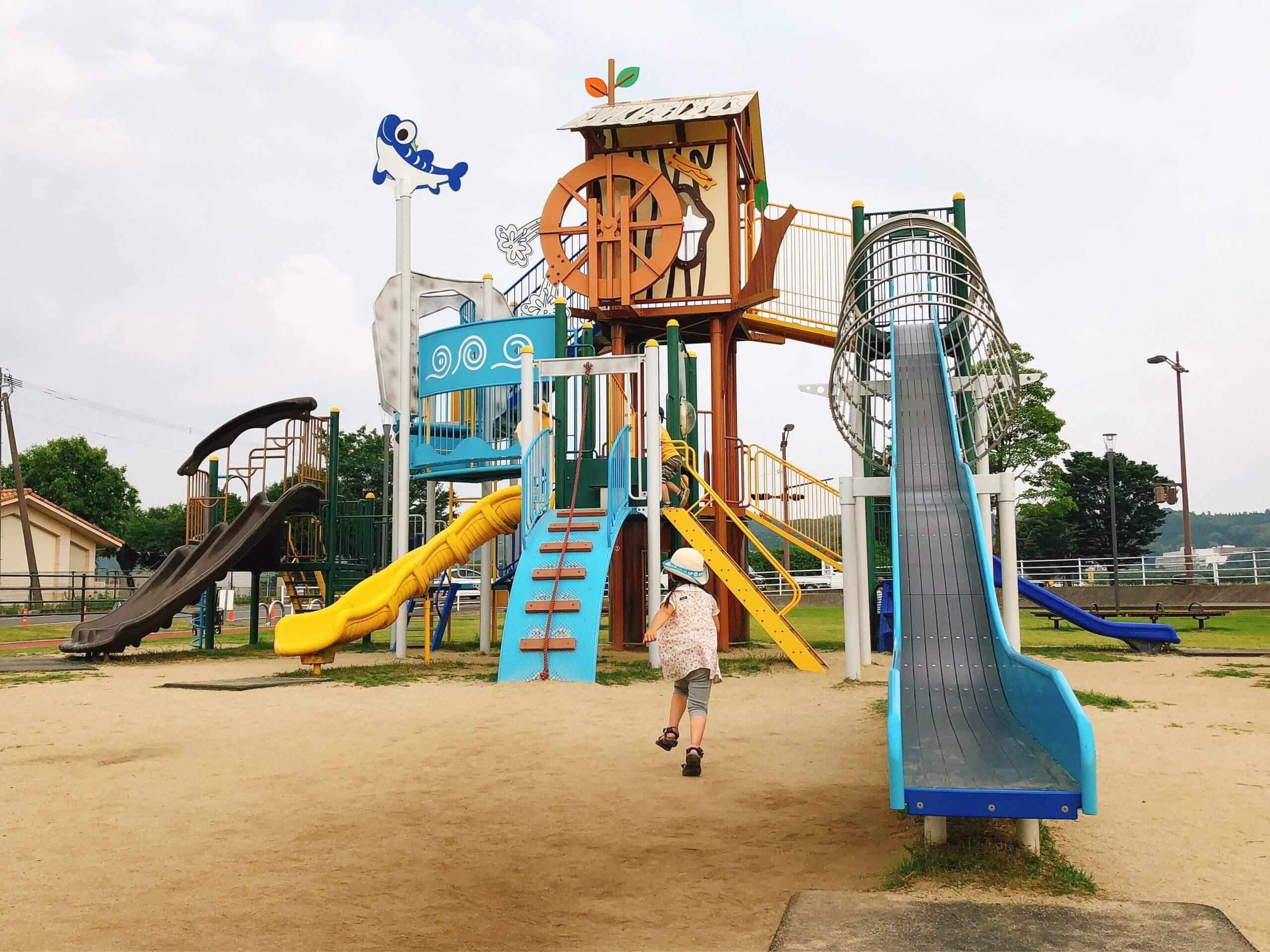 【鼻ぐり井出公園】きれいに整備された子ども向けの公園♪♪【菊池郡菊陽町 】