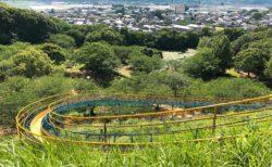 【岡岳公園】小学生も楽しめる!長いすべり台とアスレチックがある公園♪【宇城市松橋町 】