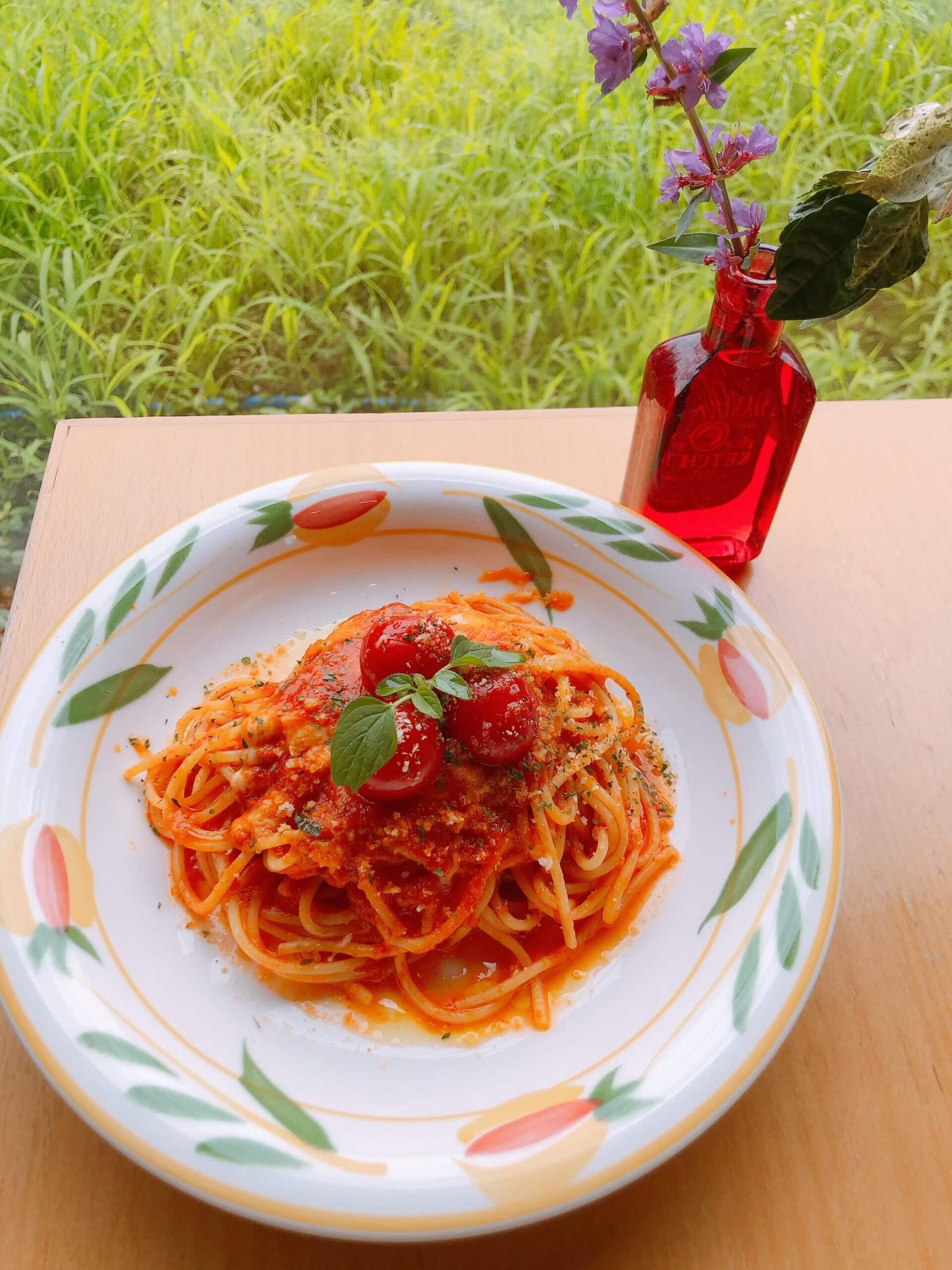 【花の果樹園】パスタ・ピッツァ・リゾットなどからメイン料理が選べて副菜、フルーツ、飲み物までついたビュッフェレストラン♪《合志市野々島》