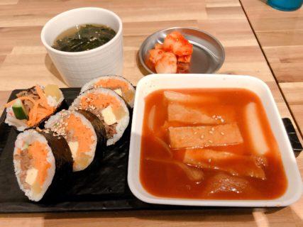 【ウリシクタン】キンパ(韓国風のり巻き)トッポキ、ヤンニョムチキンなど本格的な味が楽しめる韓国料理屋さん♫《熊本市中央区安政町》