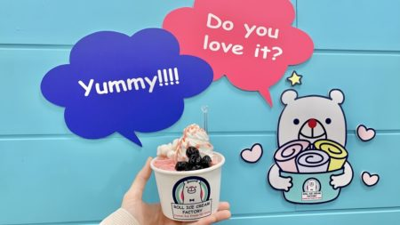 【ROLL ICE CREAM FACTORY(ロールアイスクリームファクトリー)】熊本初出店!目でも楽しめる、新感覚、クルクルアイスクリーム!《熊本市中央区下通》