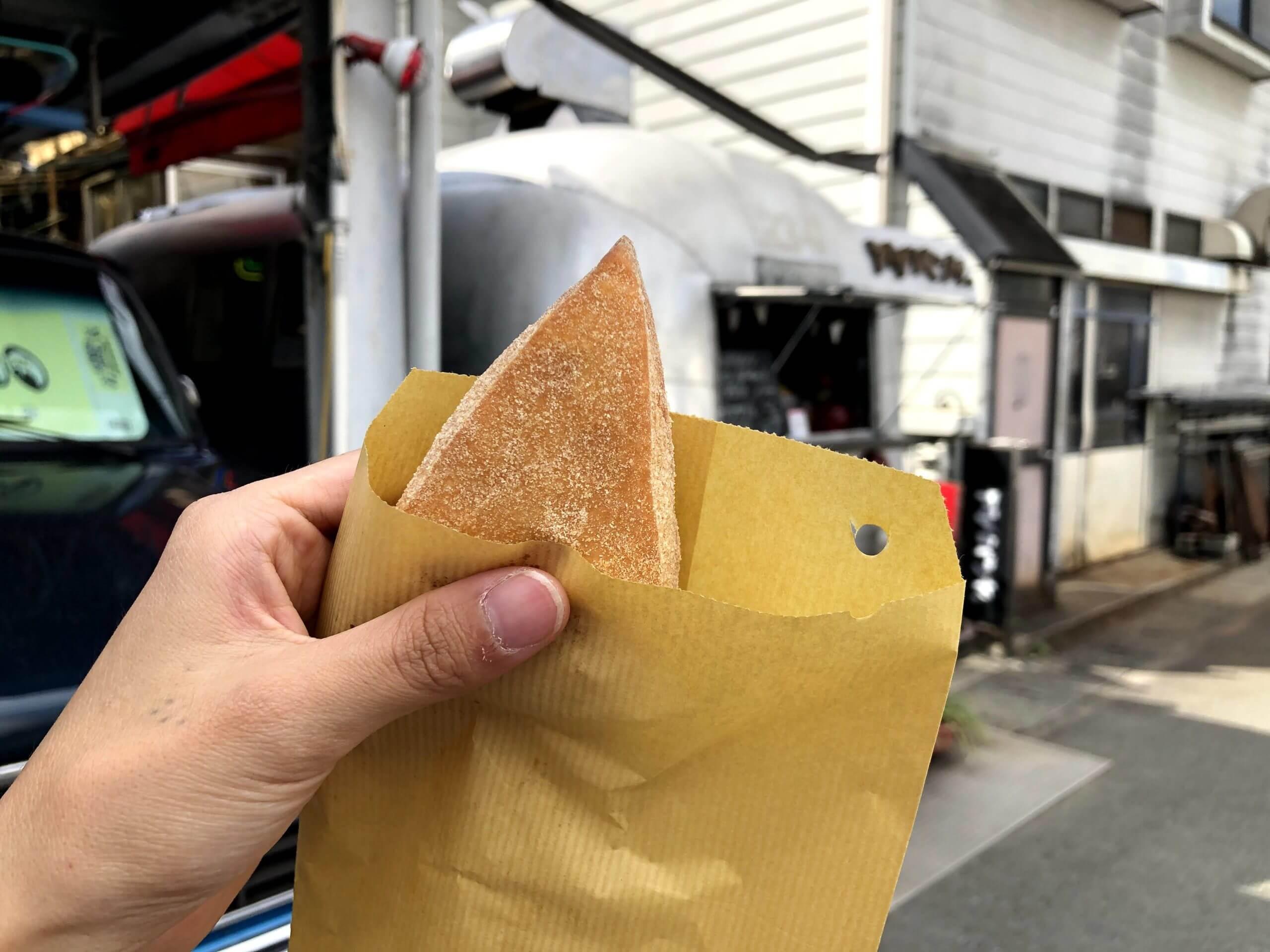 【てづくりあげぱんや】三角のあげぱんは可愛いだけじゃなく美味しいも兼ね備えてる最強フード《熊本市中央区新大江》