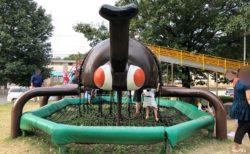 【かぶとむし公園】大きなカブトムシに長い滑り台で子供たちもおおはしゃぎ!《菊池郡大津町大字大津》