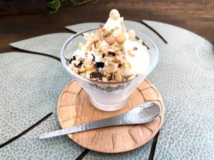 【アユンテラスAyun TERRACE -Beuty Cafe-】マッサージ店の中にあるカフェで人気のソフトクリームが見た目から美味しい《菊池郡菊陽町津久礼》