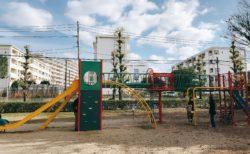 【堂免公園】夏はプールも!?こんな街中に遊具充実の公園あり♪《熊本市中央区大江》