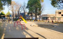 【バレーボール公園】昼過ぎると近くの子どもたちが集まる賑やかな公園☆《熊本市北区植木町》