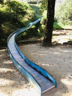 【蛇ヶ谷公園】全長130m!子供もおおはしゃぎな熊本県下最長のローラー滑り台有する公園!《玉名市立願寺》