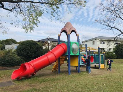 【蓮台寺公園】新幹線も見えるかも?グラウンドも遊具もある公園!《熊本市西区蓮台寺》