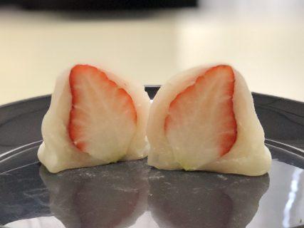 【粋也庵菊南店】安い、美味しい、いちご大福がもちもちでイチゴのうまみ溢れてます《合志市須屋》