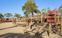 【桃田運動公園】ちょっとドキドキな遊具に木を感じる遊具もある☆広い敷地の公園!《玉名市大倉》