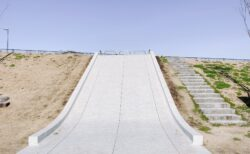 【北原公園】石造のすべり台が魅力的なピカピカの公園!《熊本市中央区渡鹿》