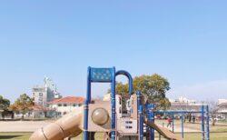 【笛田中央公園】南区の住宅街に大型遊具の公園あり!花見も出来るよ🌸《熊本市南区御幸笛田》