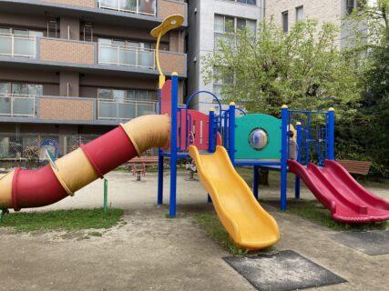 【上林公園】複合遊具もある都会の小さな公園!《熊本市中央区上林》