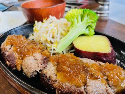 【焼肉の一休-菊池市旭志伊坂-】くまもと黒毛和牛「和王」が100%使われた肉感たっぷりのハンバーグ