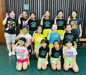 【熊本ジュニアチアリーディングチームクローバーズ】無料キッズスペースあり!8月幼児クラスの体験会開催。