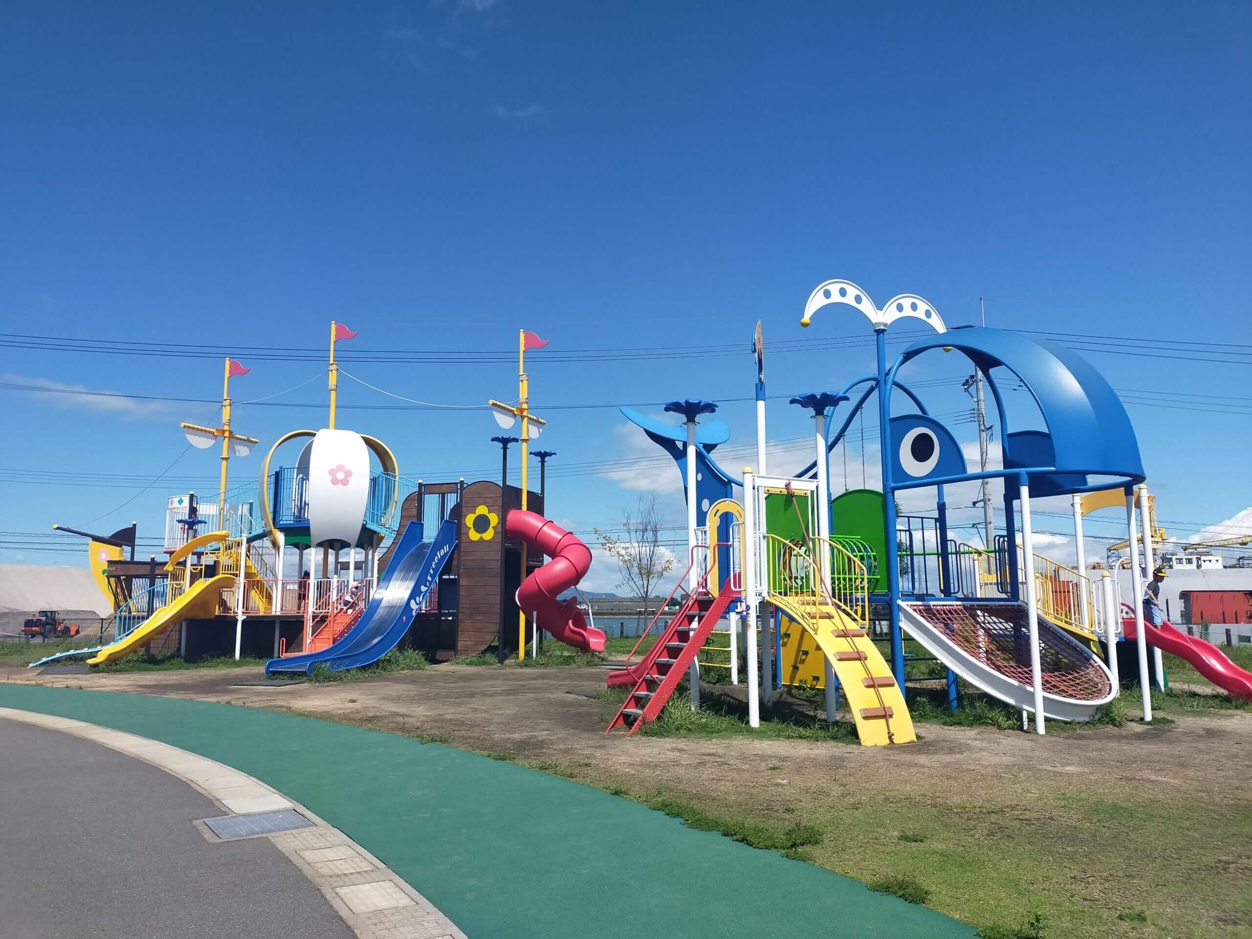【エコエイトやつしろ緑地公園 – 八代市港町-  】海風が気持ちいい広々とした公園