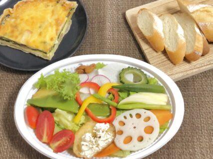 【ごちそうサラダ ポティロン – 熊本市北区高平 – 】子供も喜ぶ!お野菜たっぷりサラダとふんわりキッシュ
