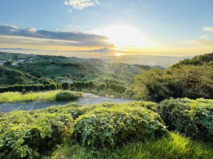 【実山(げんやま)展望公園-玉名市天水町-】子供遊具もある夕日と桜の絶景スポット